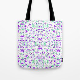 purple and green gold dot chip mosaic motif tile pattern boho mandala Tote Bag