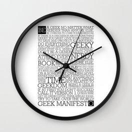 Proud Geek Manifesto Wall Clock