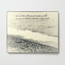 Inspirational Vintage Beach Photography Metal Print