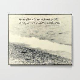 Inspirational Vintage Beach Photography Metal Print
