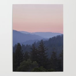 Sunset in the Santa Cruz Mountains Poster