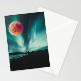 Blood Moon Over Iceland Stationery Cards