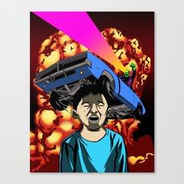 Explosion Kid Canvas Print