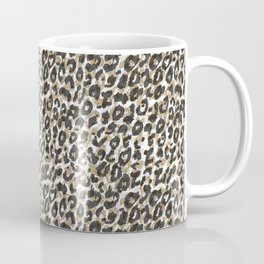 Elegant gold leopard animal print pattern Coffee Mug