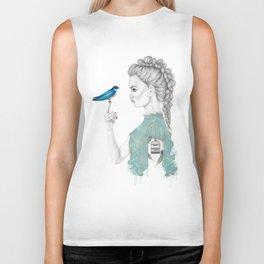 Bluebird girl Biker Tank
