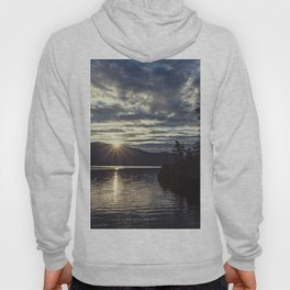 idaho lake sunset Hoody