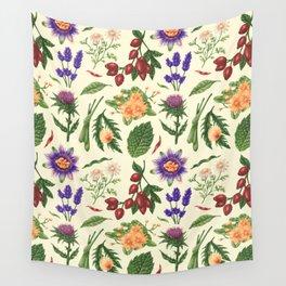 TEA PATTERN Wall Tapestry