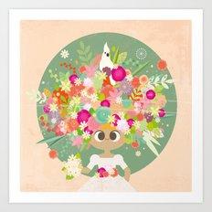Blumenköpfchen Art Print