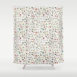 Christmas Pattern   Xmas Gift Idea Santa Claus Shower Curtain