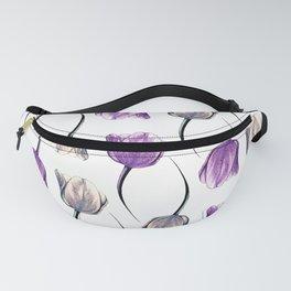 Metallic & Violet Tulips Fanny Pack