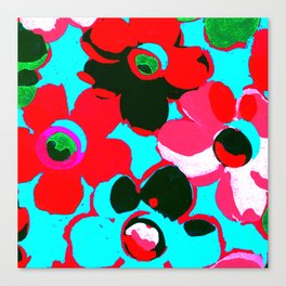 Fashion Floral  print  design painting fashion Canvas Print
