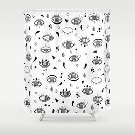Eyes eyes baby Shower Curtain