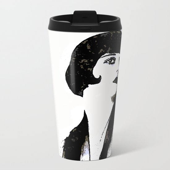 LOUISE BROOKS:  MY LOVE IS ALL I HAVE TO GIVE Metal Travel Mug