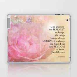Serenity Prayer Pink Rose Floral Collage Laptop & iPad Skin