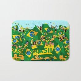 Brazil Soccer Fans Bath Mat