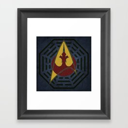 Lost Trek Wars: Square Variant Framed Art Print