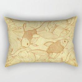 Vintage Goldfishes  Rectangular Pillow