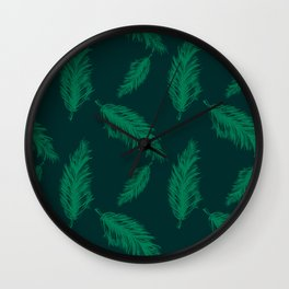 FEATHER PRINT Wall Clock
