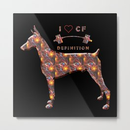 I love crossfit definition Metal Print