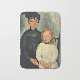 """Amedeo Modigliani """"Les deux filles"""" Bath Mat"""