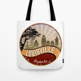 Louisville City Skyline Design Kentucky Retro Vintage Tote Bag