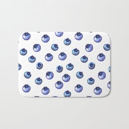 Pattern design with blueberries Bath Mat