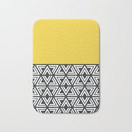 Black, White and Yellow Geo Bath Mat