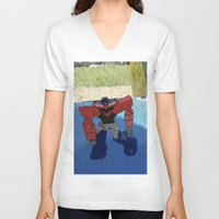 optimus prime V-neck T-shirts featuring Optimus by Tara Michele