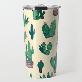 yellow cactus Travel Mug