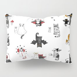Halloween Cats In Terrible Imagery Pillow Sham
