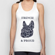 French & Proud Unisex Tank Top