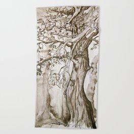 A Weary Wood Beach Towel