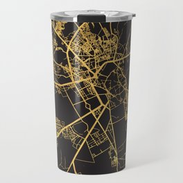 MARRAKESH MOROCCO GOLD ON BLACK CITY MAP Travel Mug