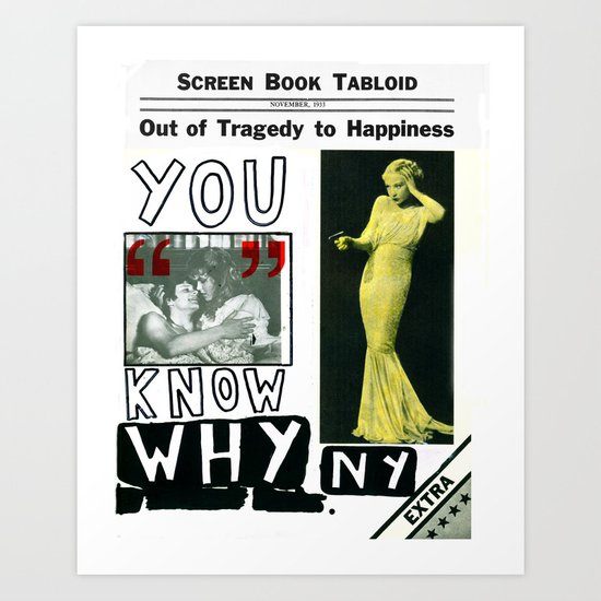 You Know Why NY Art Print
