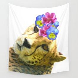 Cute Cheetah Portrait Wall Tapestry