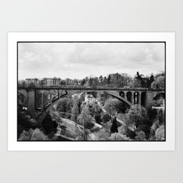 Pont Adolphe Art Print
