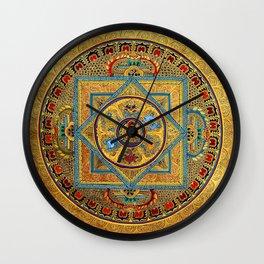 Buddhist Hindu Mandala 23 Wall Clock