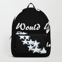 Would You Catch A Falling Star? Black and White Art, Stars Backpack