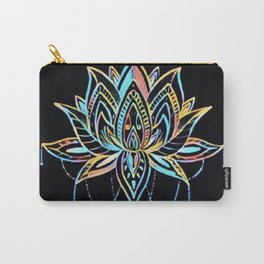 Pastel Lotus Carry-All Pouch