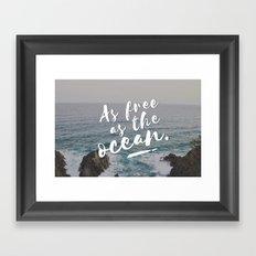 As free as the ocean Framed Art Print