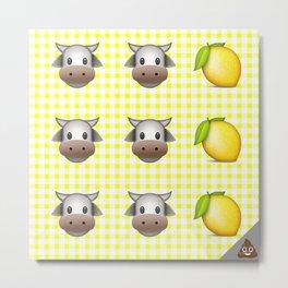 Milk Milk Lemonade Emoji Metal Print