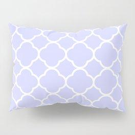 Periwinkle Blue Quatrefoil Pillow Sham