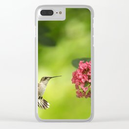 Hummer in Flight Clear iPhone Case