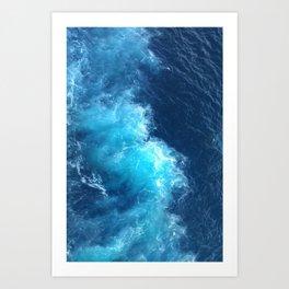 Ocean Blue Waves Art Print