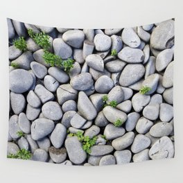Sea Stones - Gray Rocks, Texture, Pattern Wall Tapestry