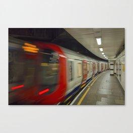 Train now leaving Canvas Print