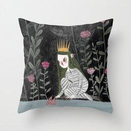 Silver-Tree Throw Pillow