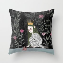 Silver-Tree Throw Pillow