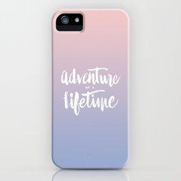 Adventure of a Lifetime - Serenity / Rose Quartz iPhone Case