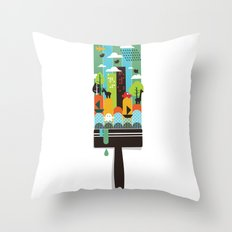 Paint your world Throw Pillow